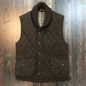 WHILLAS & GUNN Waxed Quilted Kingsford Vest